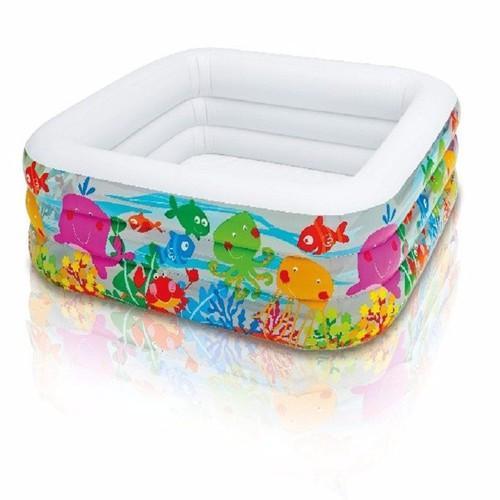 Bể bơi phao vuông 3 tầng cho bé hiệu Intex 57471