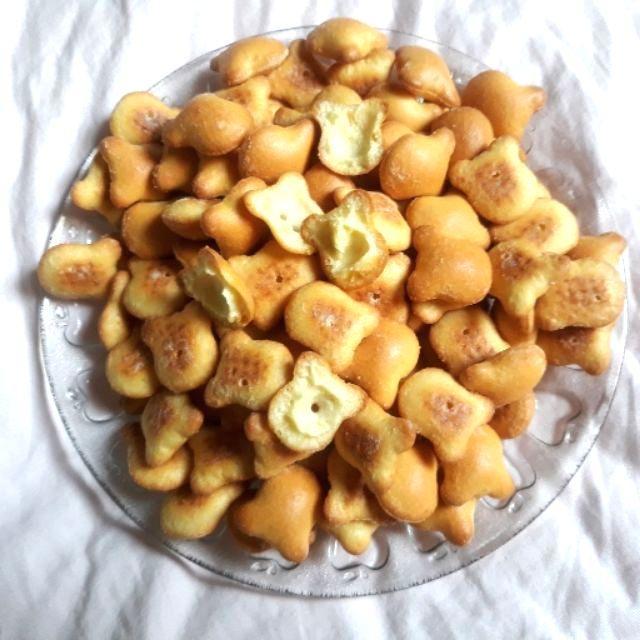 Hình ảnh 1Kg Bánh Gấu Nhân Kem THIÊN HỒNG Giòn Tan Thơm Ngon - Túi Nilon