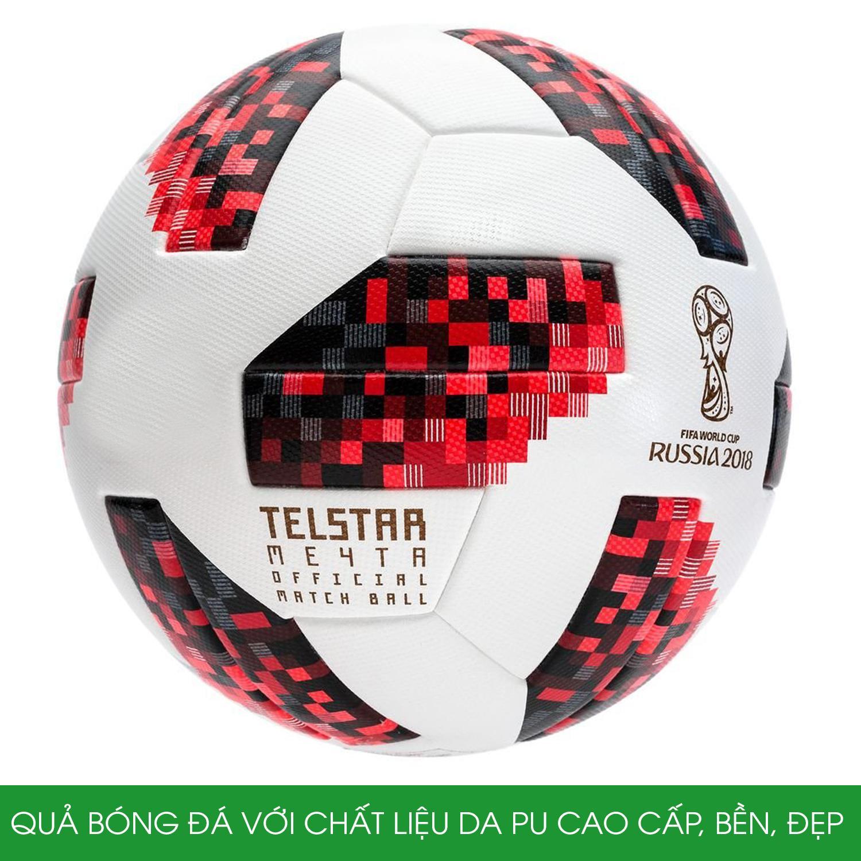 Hình ảnh Quả bóng đá WC 2018 TELSTAR cao cấp Size 5 + Tặng kèm kim bơm và túi lưới