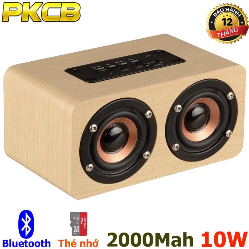 Loa Bluetooth Super Bass Gỗ  PKCB G4 Lõi Kép HIFI stereo Speaker PF96