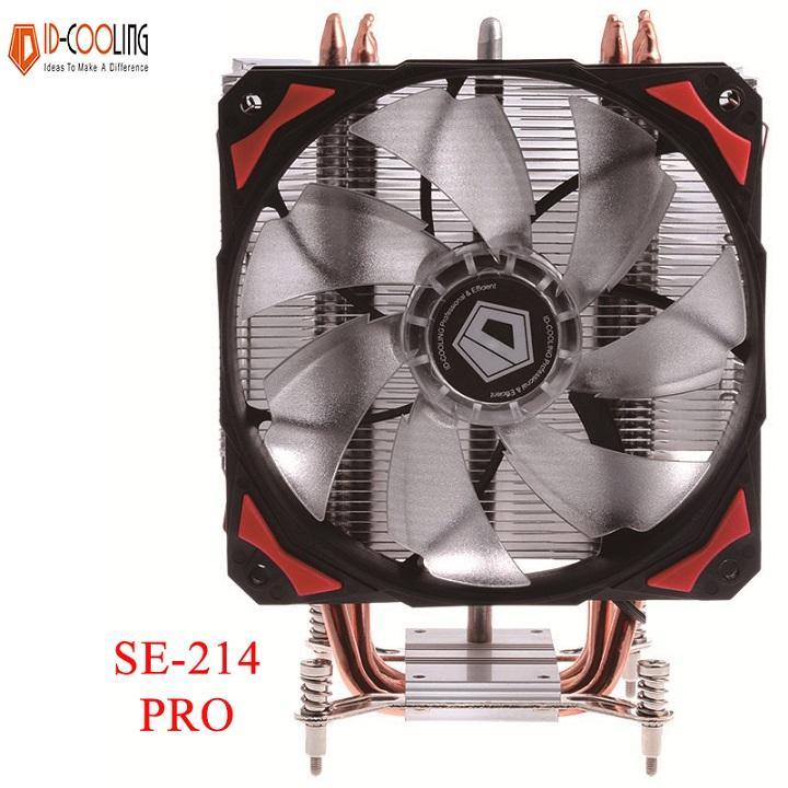Quạt tản nhiệt ID-Cooling SE-214 Pro - 4 ống đồng, giảm nhiệt mạnh mẽ