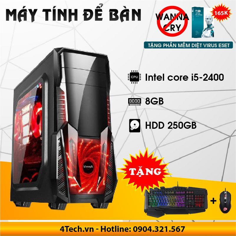 Hình ảnh Máy Để Bàn Cpu core i5 2400, RAM 8GB, 250GB - Chơi Game, Cửa Hàng, Văn Phòng, Học Tập.
