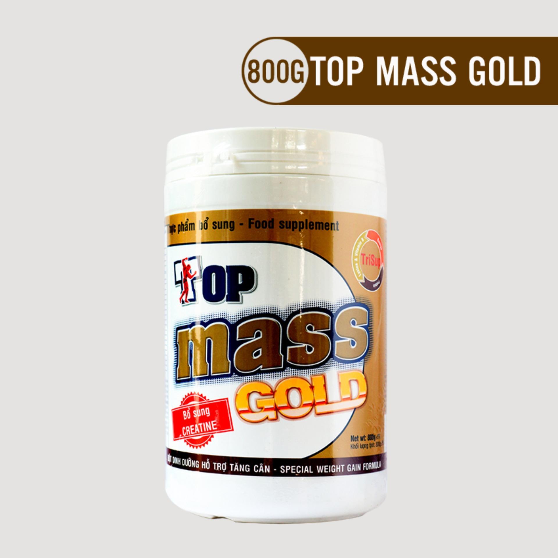 Sữa bột Top Mass Gold vị chocolate 800g tăng cân