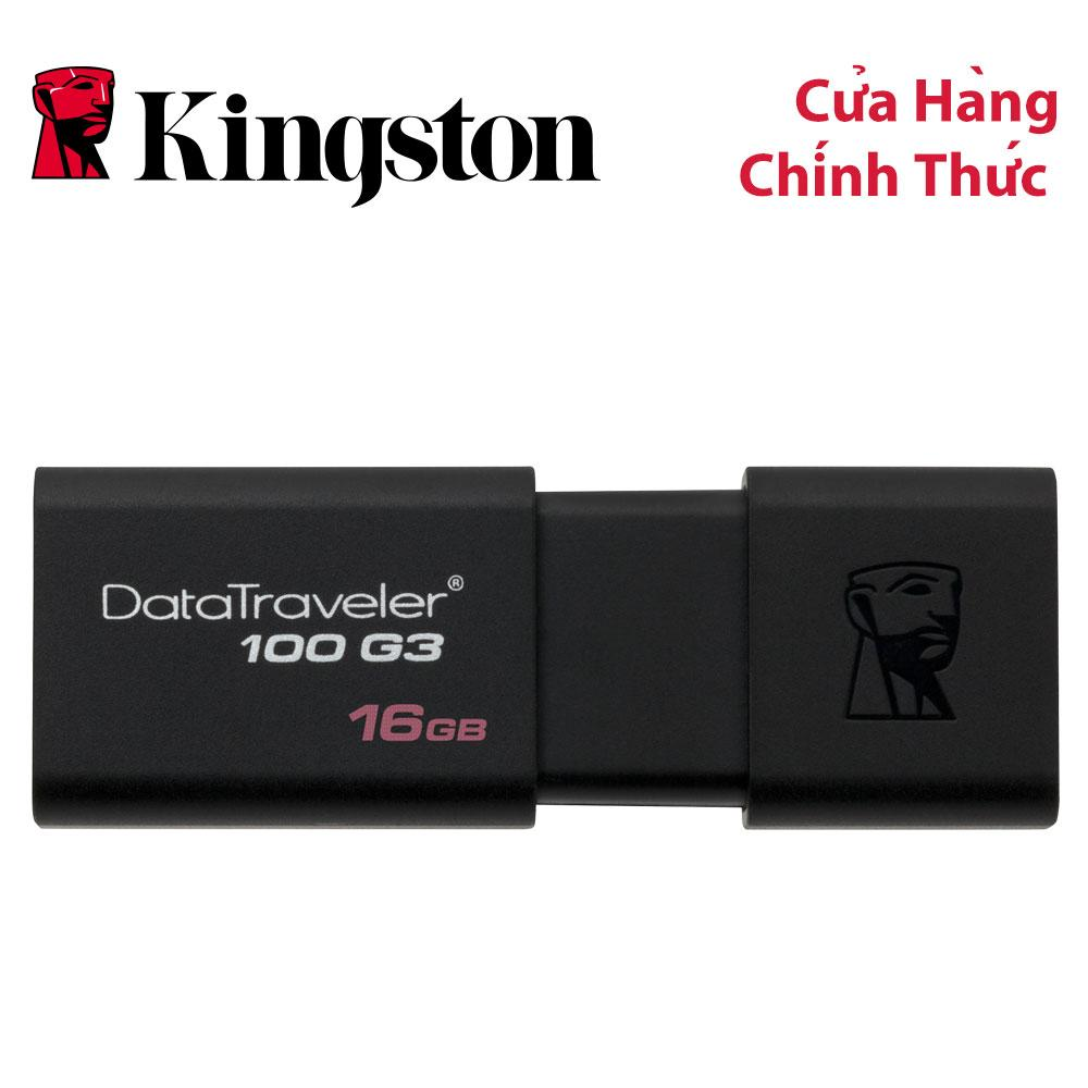 Voucher Ưu Đãi USB Kingston DataTraveler 100 G3 16GB USB 3.0 (DT100G3/16GBFR)