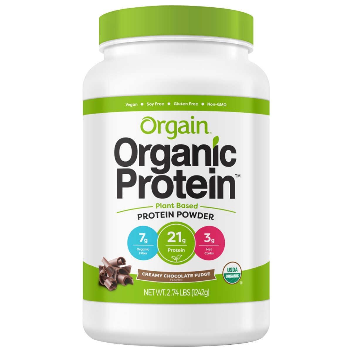 Bột đạm protein thực vật hữu cơ chocolate Orgain 1242g nhập khẩu