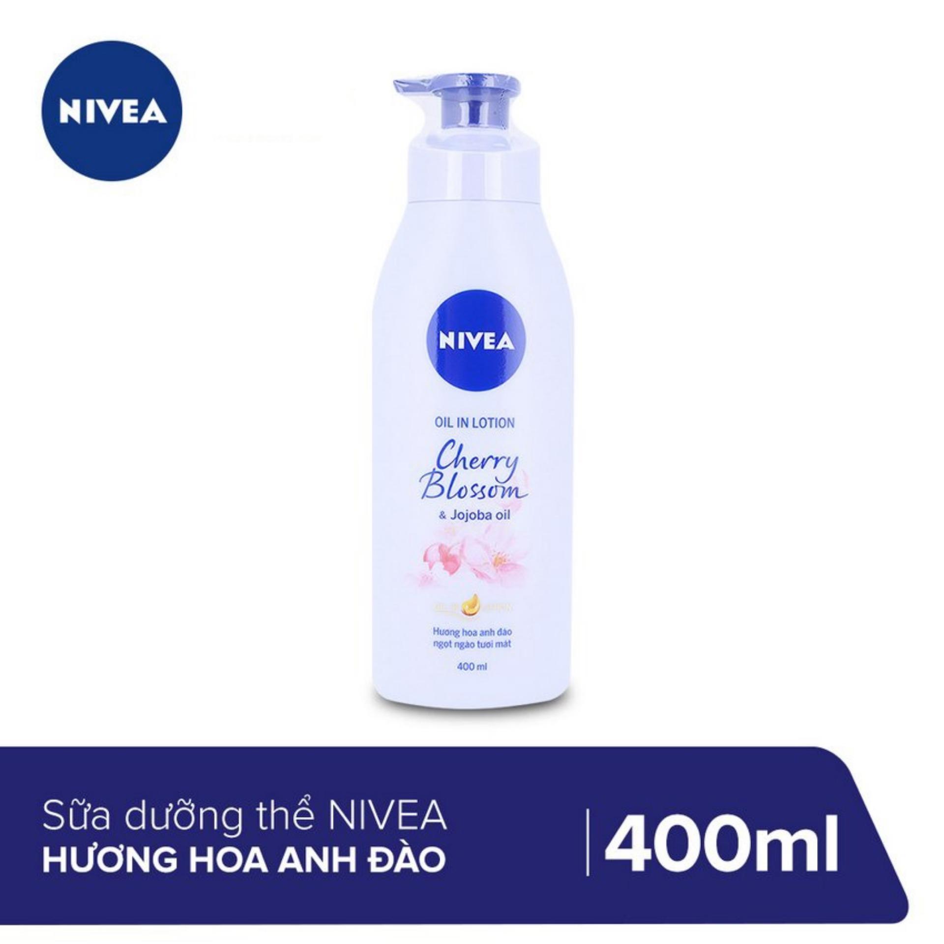 Sữa Dưỡng Thể Nivea Hương Hoa Anh Đào 400ml _ 88441 nhập khẩu