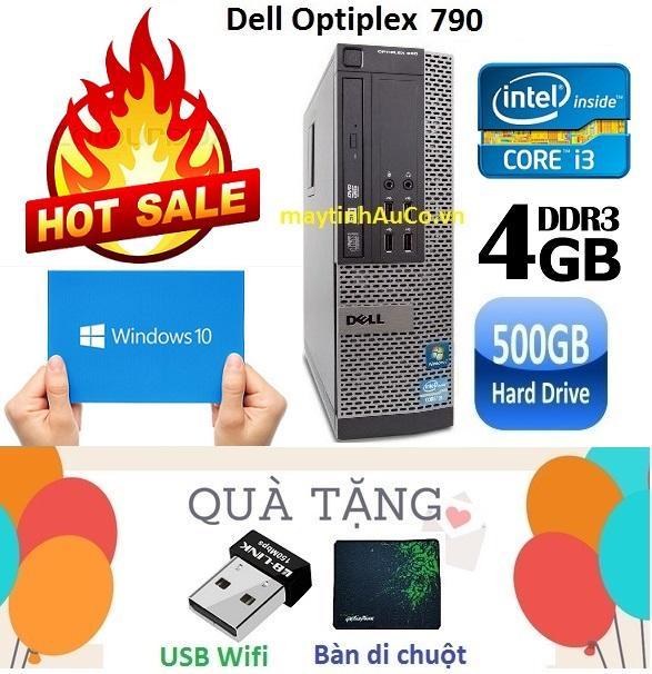Thùng Máy Tính đồng Bộ Dell Optiplex 790 Core I3 2100 / 4G / 500G - Tặng USB Wifi , Bàn Di Chuột , Bảo Hành 24 Tháng Đang Ưu Đãi