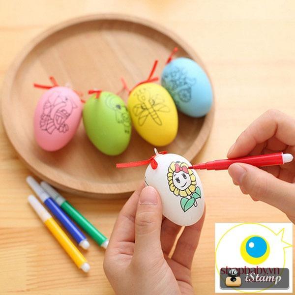 Hình ảnh Combo 3 trứng tô màu cho bé