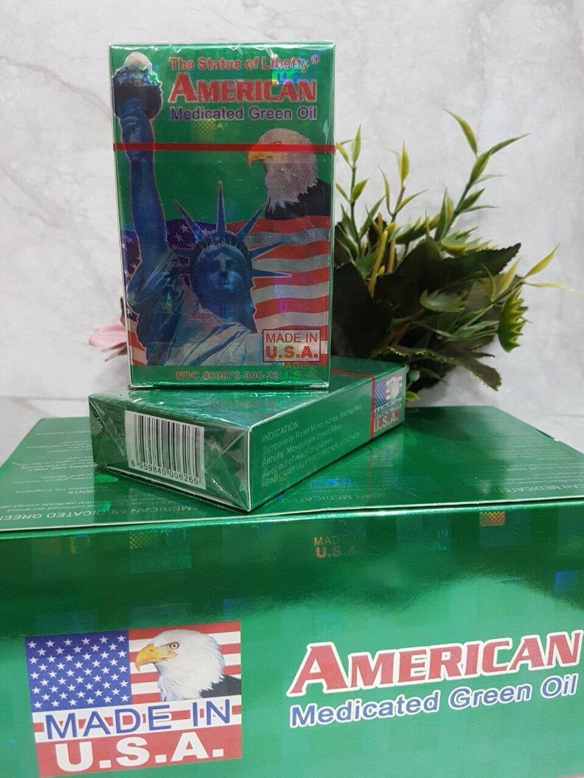 Hình ảnh Dầu xanh AMERICAN 22ml của Mỹ
