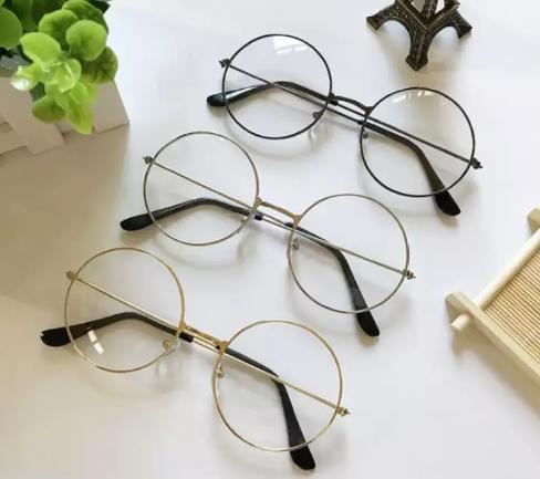 Mắt kính ngố gọng cận tròn Nobita cao cấp siêu dể thương (Đen)