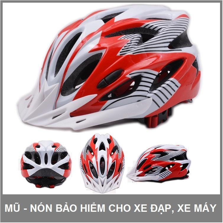 Hình ảnh Mũ - nón bảo hiểm dành cho xe đạp, xe máy size người lớn