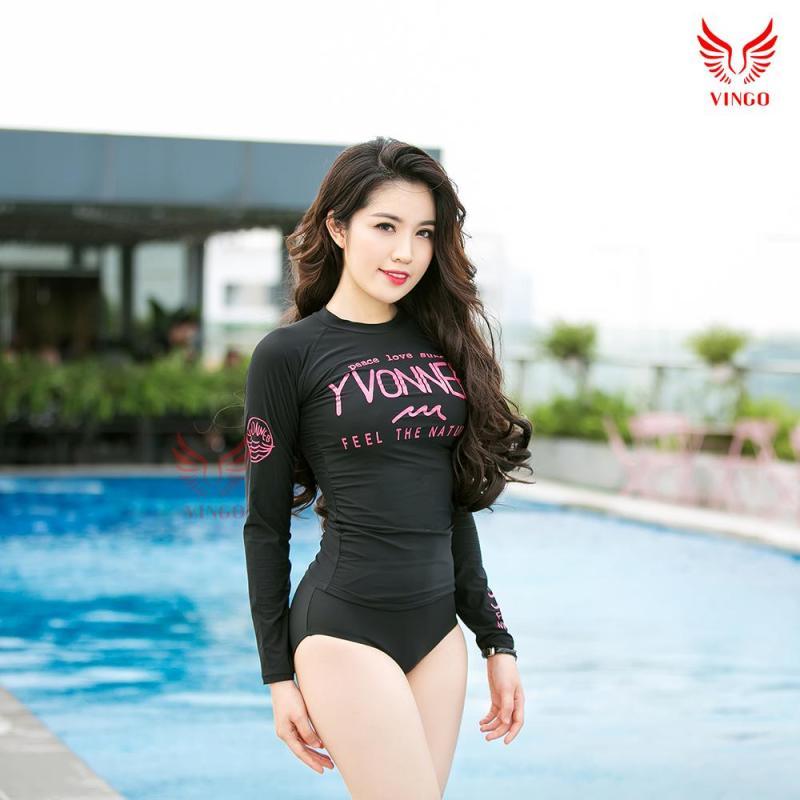 Nơi bán Đồ bơi nữ hai mảnh dài tay, bikini gợi cảm dáng Hàn Quốc trẻ trung thương hiệu Vingo