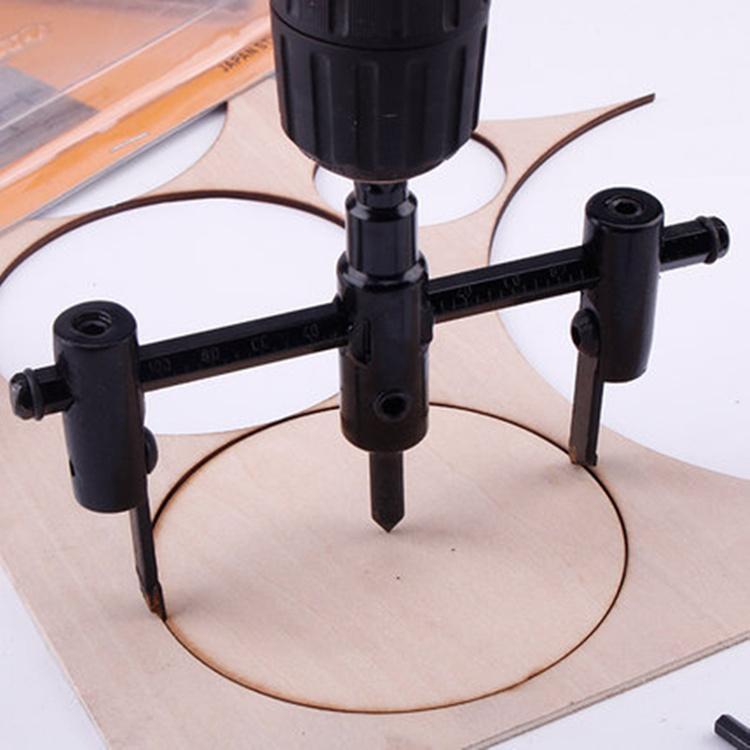 Hình ảnh Dụng cụ cắt hình tròn-Dụng cụ khoét lỗ tròn 30-120mm điều chỉnh linh hoạt