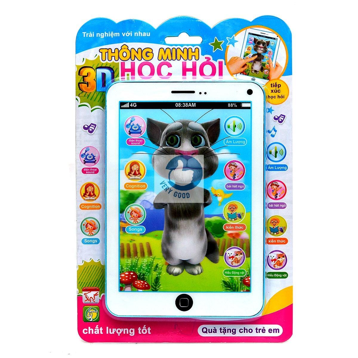 Hình ảnh Đồ chơi Ipad mèo Tom thông minh đa chức năng biết kể chuyện, hát, cho bé