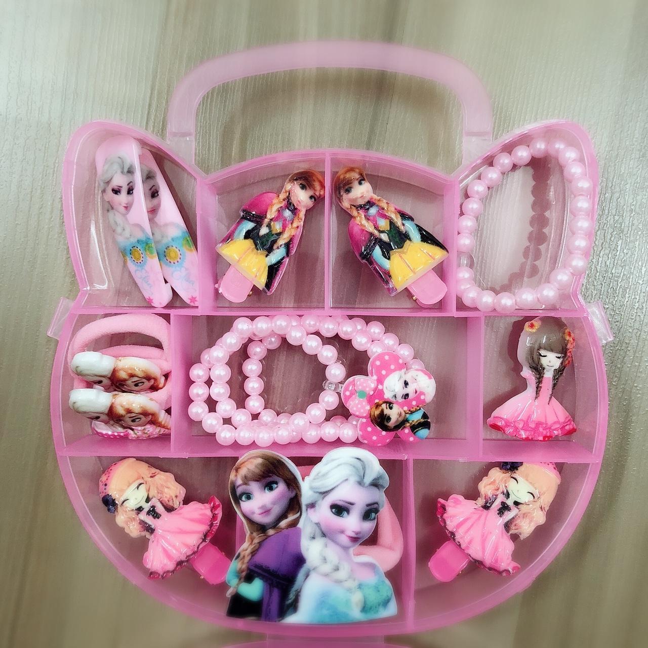 Hộp phụ kiện tóc xinh xắn công chúa ELSA dành cho bé gái
