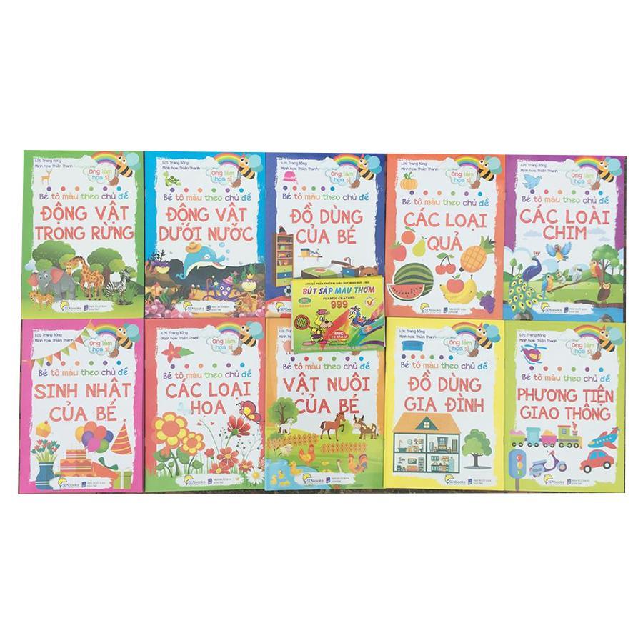 Mua Combo 10 sách Bé Tô Màu tặng Hộp sáp 12 màu