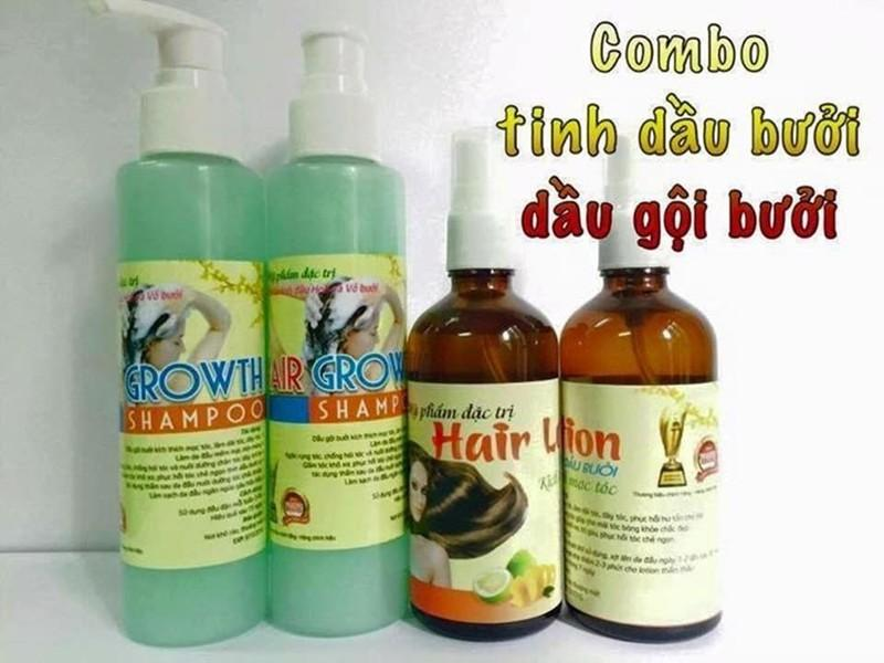 Bộ 1 chai dầu gội 180ml và 1 tinh dầu bưởi dưỡng kích thích mọc tóc Clever Mart 100ml giá rẻ
