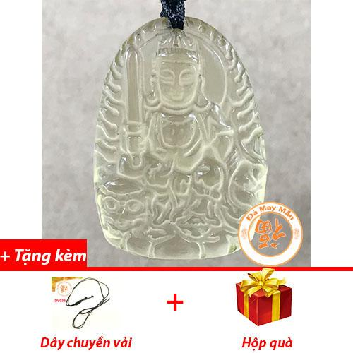 Mặt Dây Chuyền Phật Bản Mệnh Văn Thù Bồ Tát Thạch Anh Vàng