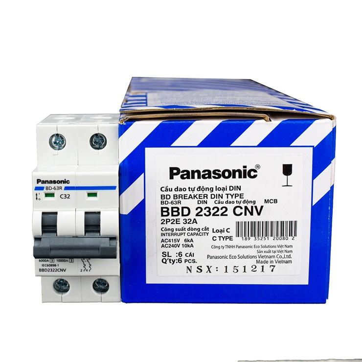 Cầu dao MCB 2 pha  (Panasonic) 32A