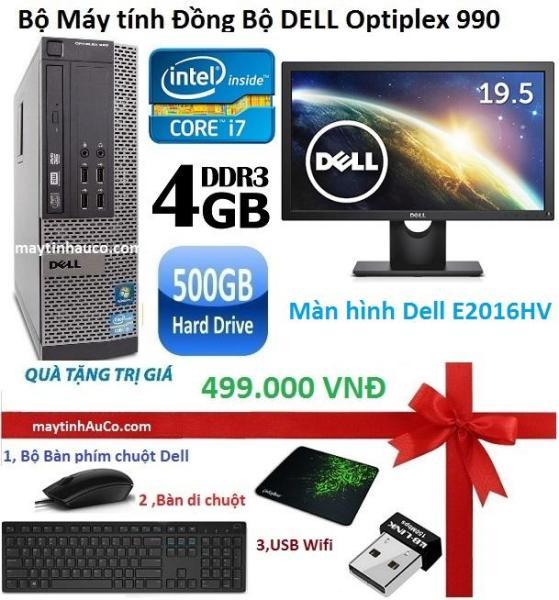 Bảng giá Bộ Máy tính Dell optiplex 990 (Core i7 RAM 4GB HDD 500GB ) - Màn hình Dell 19 inch 1916HV  Wide - LED , Tặng Bàn phím chuột Dell , USB wifi , Bàn di chuột ,Bảo hành 24 tháng Phong Vũ