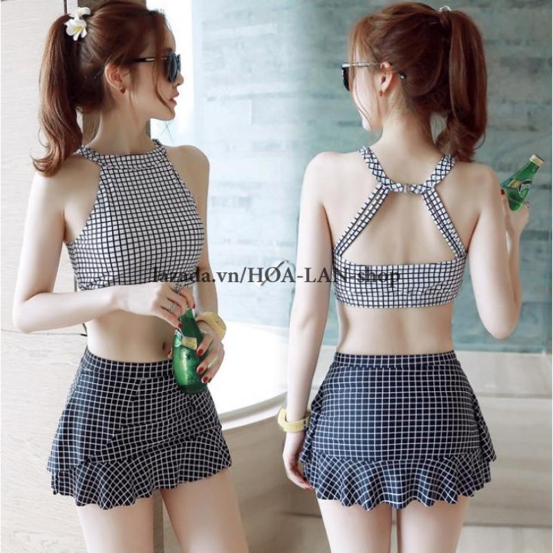 Nơi bán Bikini 2 Mảnh Ca Rô HLAT019 - Hoa Lan