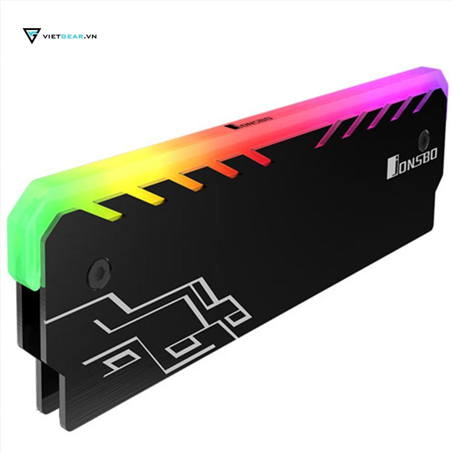 Hình ảnh Tản nhiệt ram Jonsbo NC-1 Led RGB màu đen chất lượng cao giá rẻ