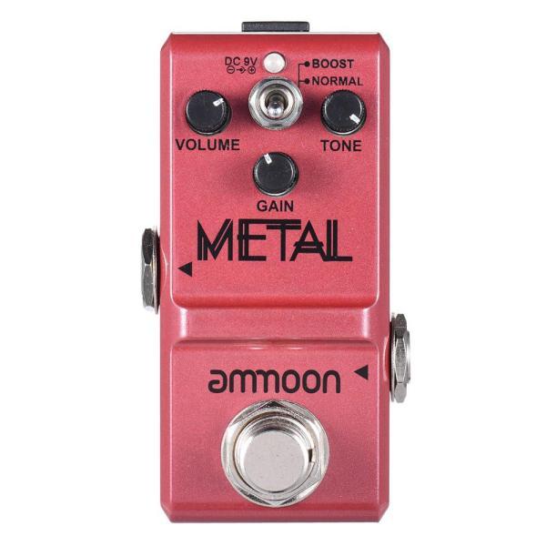 ammoon Nano Series Guitar Effect Pedal Heavy Metal Distortion True Bypass Aluminum Alloy Body