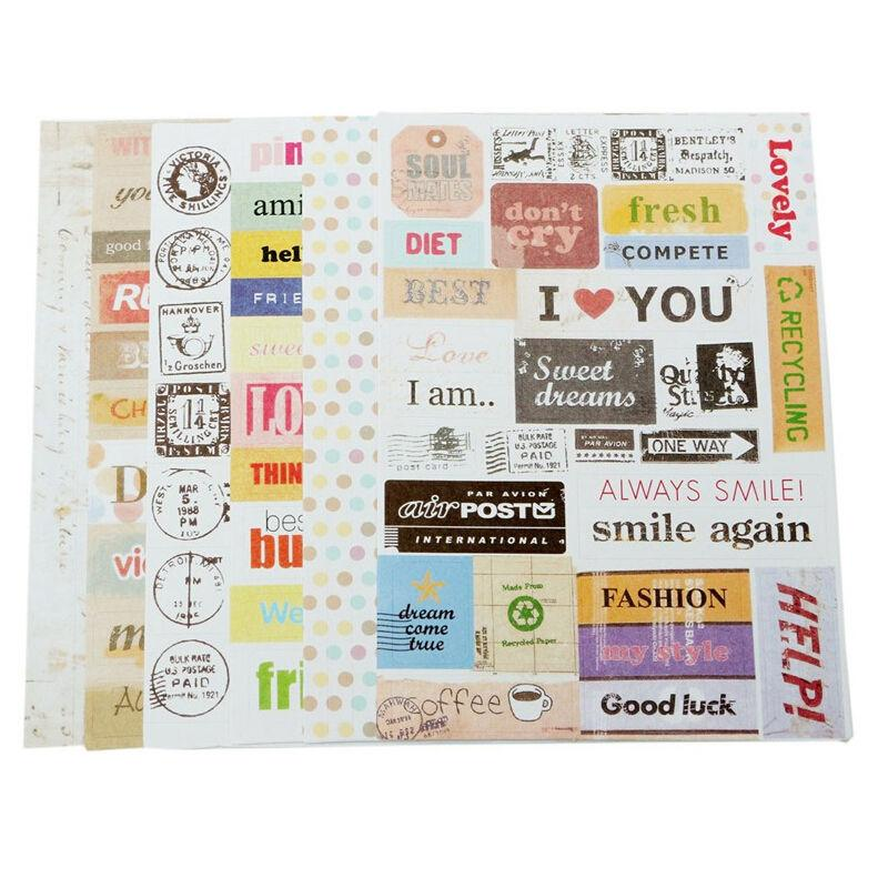 Mua 6 Sheet/lot Vintage Retro Stamp Sticker Cute Cartoon Paper Sticker for Diary Scrapbooking Decor - intl