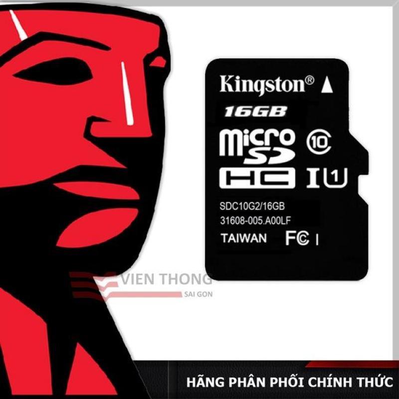 Thẻ nhớ Kingston 16GB up to 80mb/s Micro SDHC C10 UHS-I - Hãng phân phối chính thức