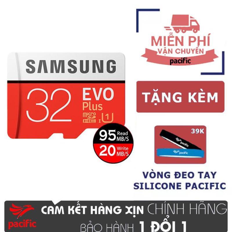 Thẻ nhớ Samsung 32GB MicroSDHC Class10 95MB/s - Tặng Vòng đeo tay Silicone Pacific