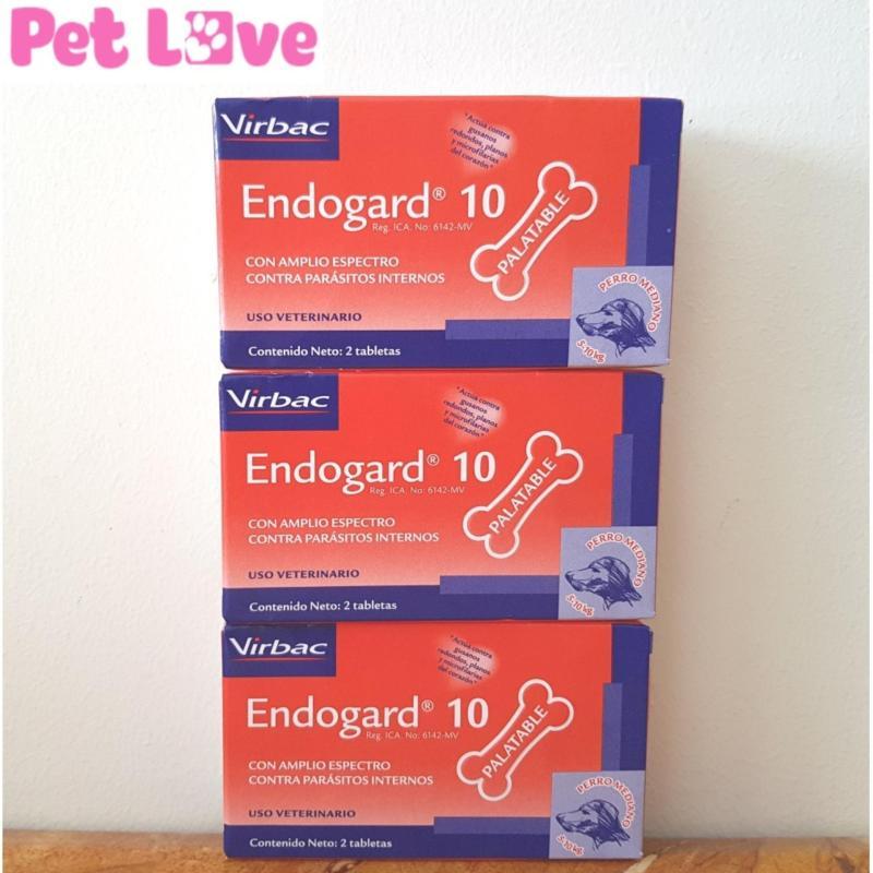 3 hộp Endogard (2 viên thuốc/ hộp) xổ giun tim, giun tròn, sán dây trên chó