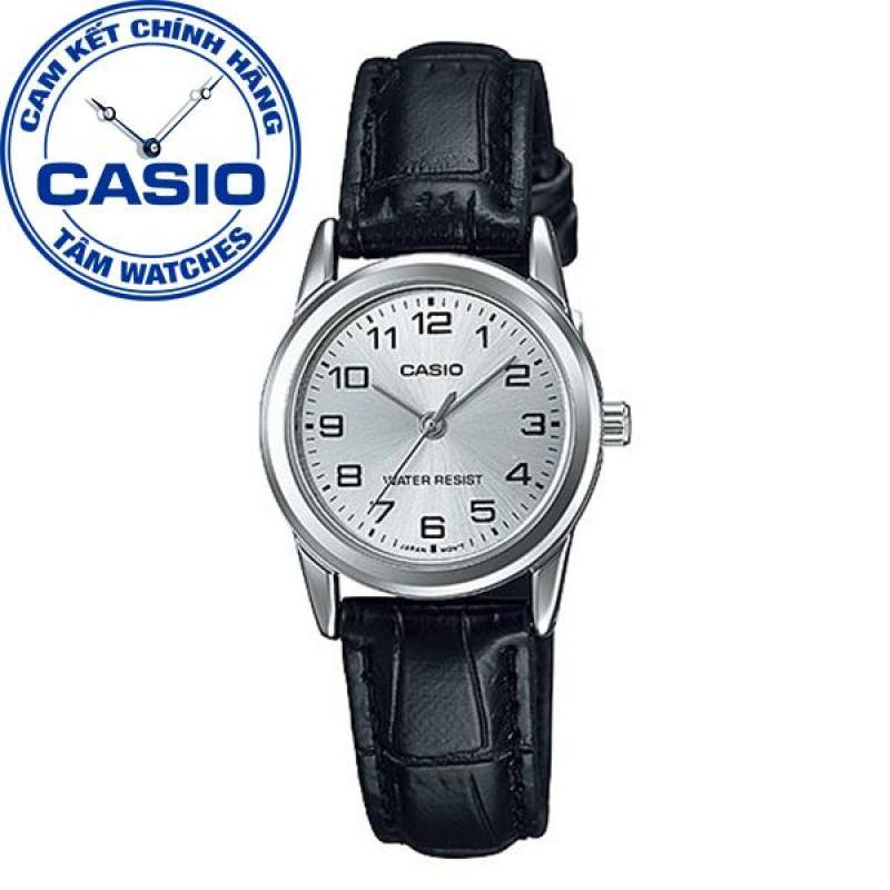Đồng hồ nữ dây da Casio Standard Anh Khuê LTP-V001L-7BUDF