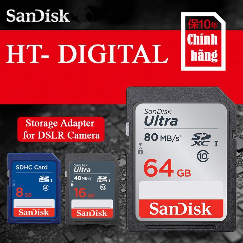 Thẻ Nhớ Máy ảnh SDXC Sandisk Ultra 64GB 80MB/s Cho Canon Nikon Fujifilm Sony Samsung Giá Hot Siêu Giảm tại Lazada