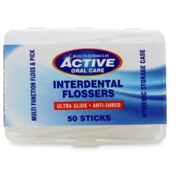 Tăm chỉ nha khoa Beauty Formulas Active Oral care Interdental Flossers - 50 cái giá rẻ