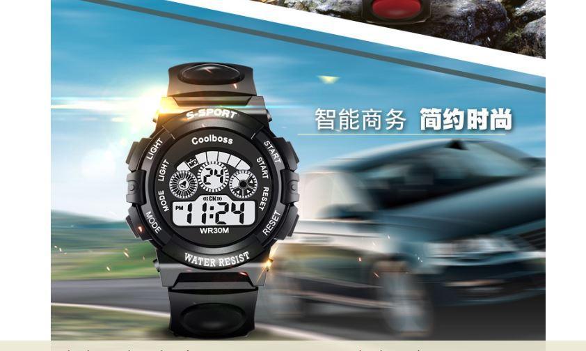 Nơi bán Đồng hồ trẻ em dây cao su Coolboos 0119 (Màu Đen)