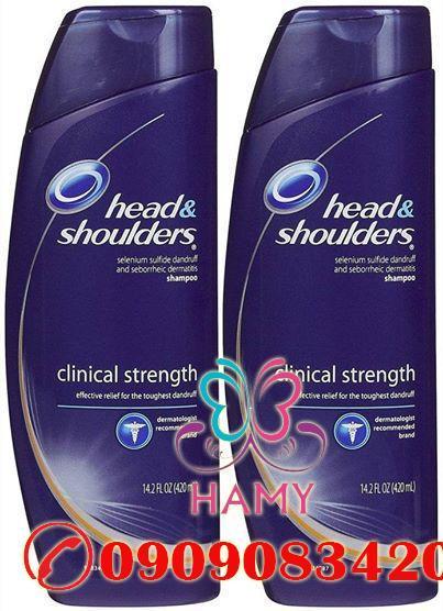 Dầu Gội Trị Gàu & Viêm Da Đầu Head & Shoulders Max Strength 400ml Mỹ