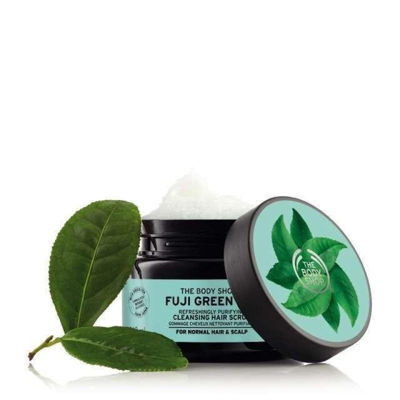 Tẩy tế bào chết da đầu The Body Shop Fuji Green Tea Cleansing Hair Scrub 240ml