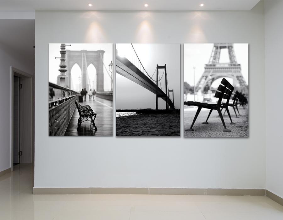 Bộ 3 tranh canvas nghệ thuật - khung hình phạm gia PGTK105