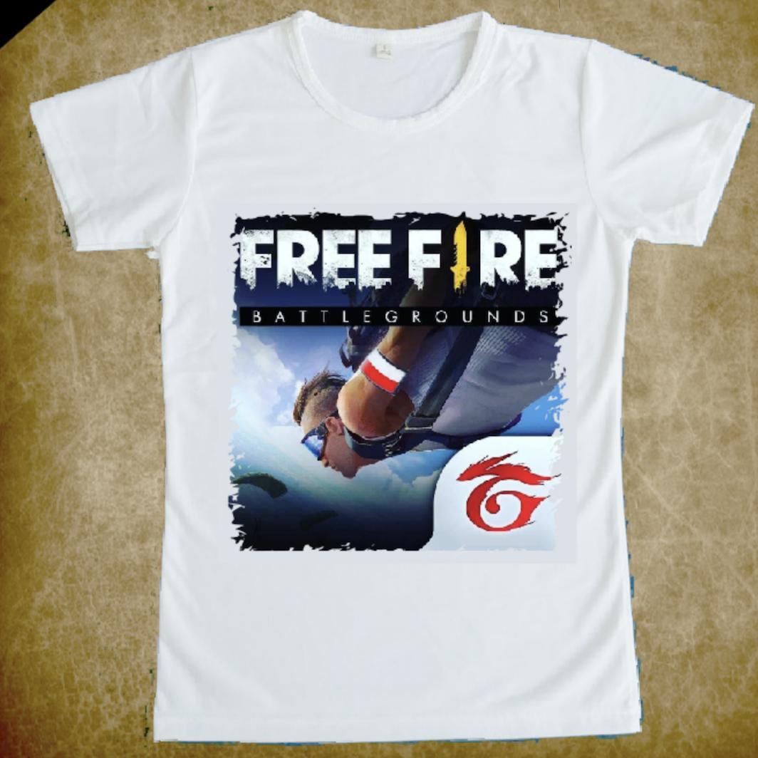 Hình ảnh Áo thun nam nữ Free Fire (Trắng)