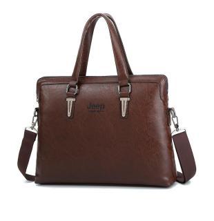 Túi xách da công sở cao cấp JEEP BULUO T04 (KT 42x32x7cm), vừa laptop 15,6inch. Túi đeo chéo . Túi đựng laptop. Cặp xách laptop - MIDEA-MART thumbnail