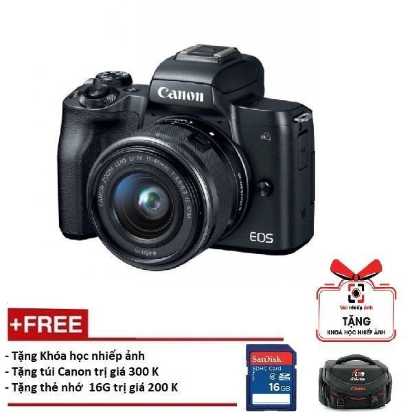 Giá Cực Sốc Khi Mua Canon EOS M50 Kèm Lens 15-45mm - Màu đen (Hàng Canon Lê Bảo Minh)-Tặng Khoá Học Nhiếp ảnh EOS + Thẻ SD 16GB + Túi
