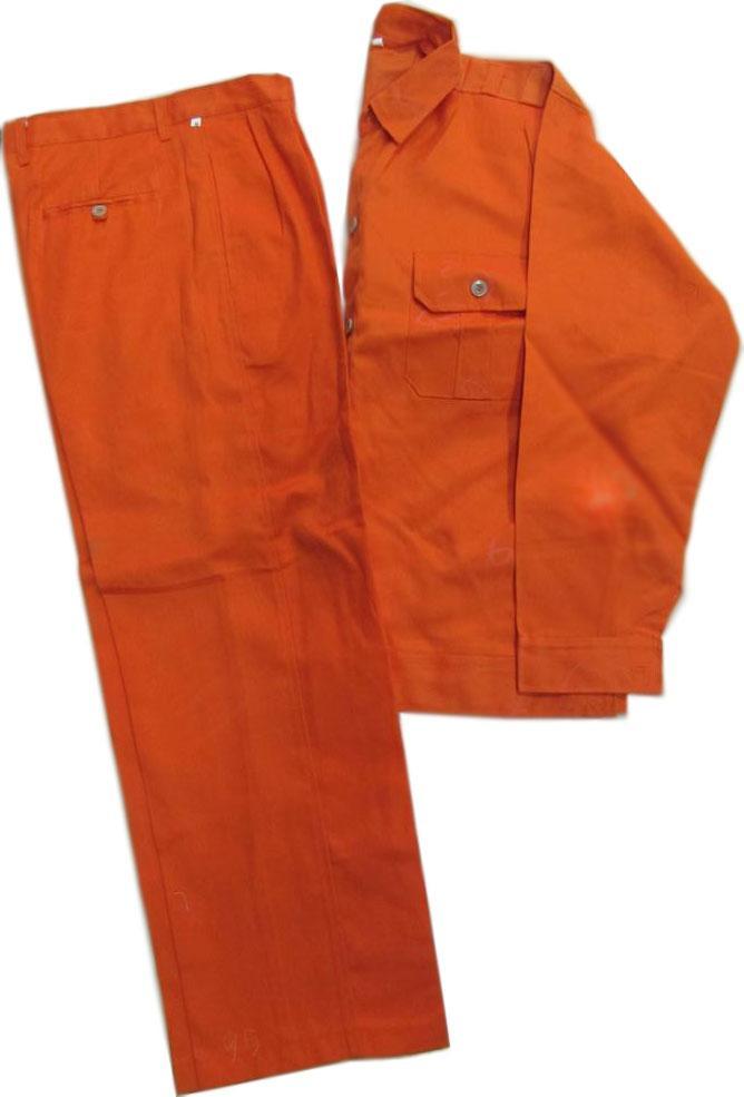 Bộ quần áo bảo hộ Lao động Kaki ngành điện màu cam size 6 (M)
