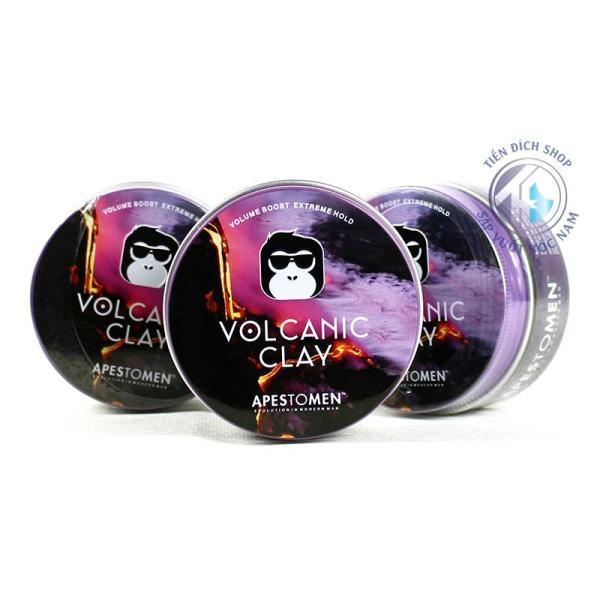Sáp volcanic clay vr3 năm 2018 - Apestomen Volcanic Clay phiên bản màu đen mới nhất 2018 - Volcanic clay black nắp nhôm giá rẻ