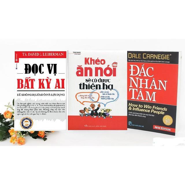 Combo 3 Cuốn: Đọc Vị Bất Kỳ Ai, Khéo Ăn Khéo Nói, Đắc Nhân Tâm Nhật Bản