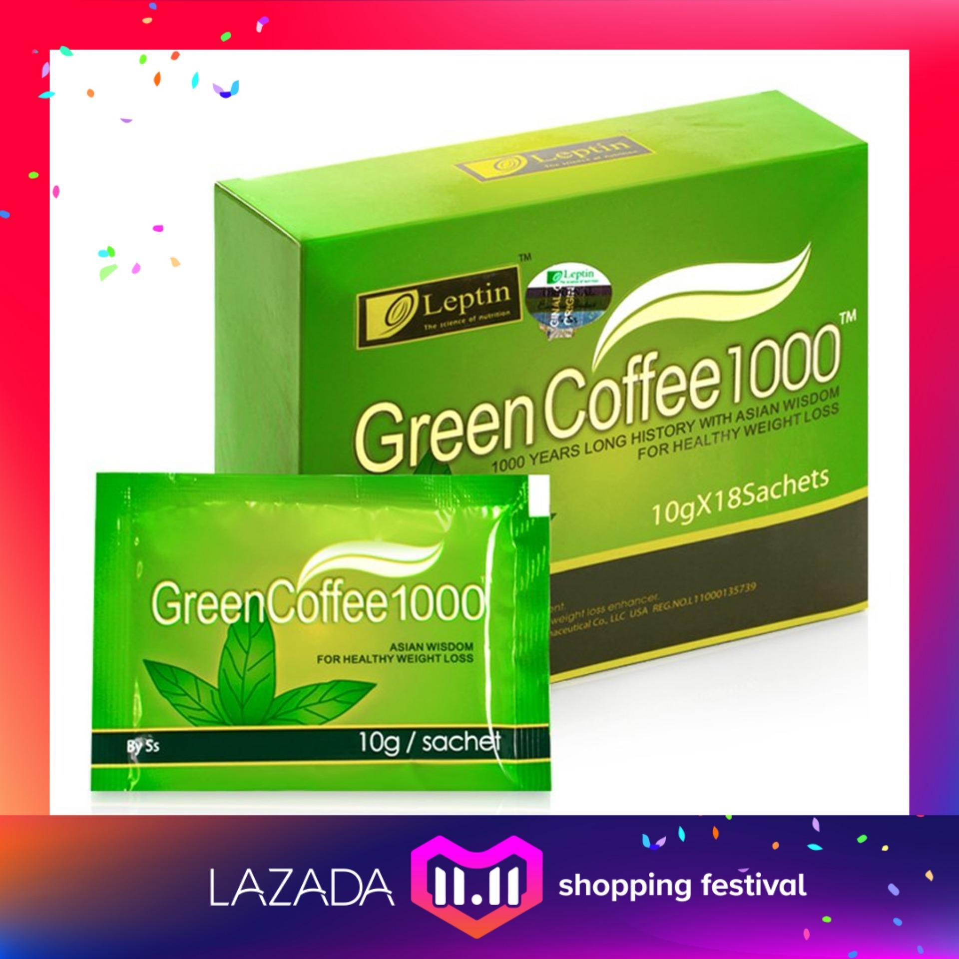 Trà giảm cân sau sinh Green Coffee 1000 chính hãng từ Mỹ