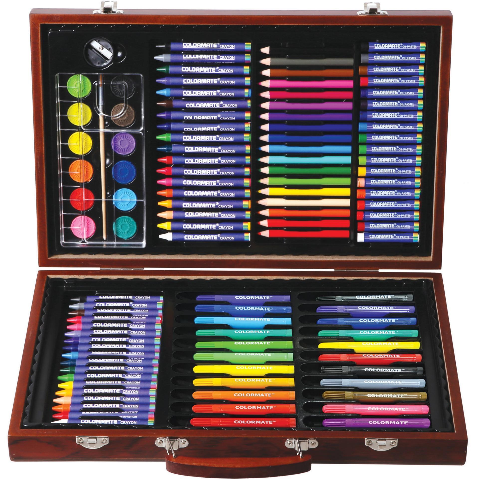 Hình ảnh Bộ màu vẽ đa năng hộp gỗ Colormate MS-110W