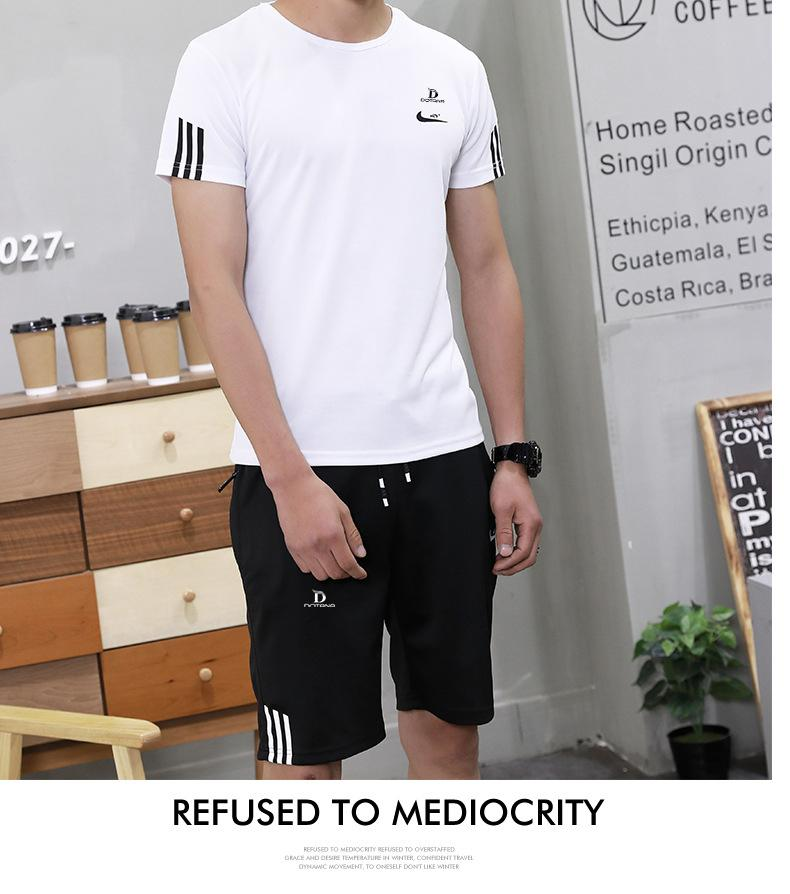 Hình ảnh Bộ quần áo thun thể thao nam cao cấp mềm mịn thoáng mát 3 sọc ML65