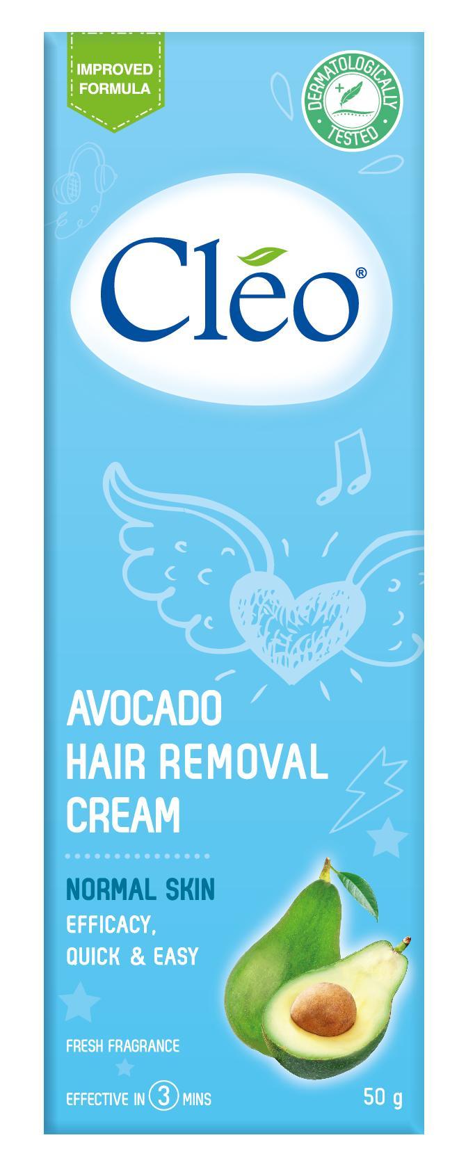 Hình ảnh Kem Tẩy Lông Cho Da Thường Cleo 50g Avocado Hair Removal Cream Normal Skin