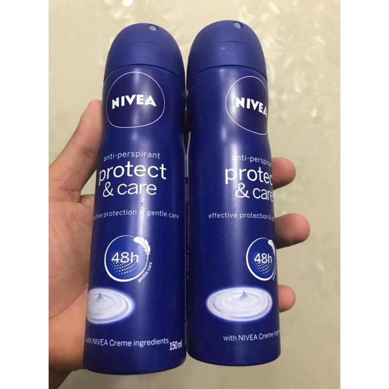 Combo 2chai Xịt khử mùi Nivea Chăm sóc và bảo vệ 150ml nhập khẩu