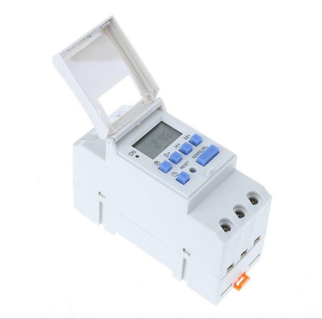 Công tắc hẹn giờ lập trình điện tử THC15A chuyên dụng lắp tủ điện (Trắng)